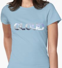 Typography Cloud Womens Fitted T-Shirt