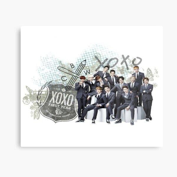 XoXo Exo kpop group Metal Print