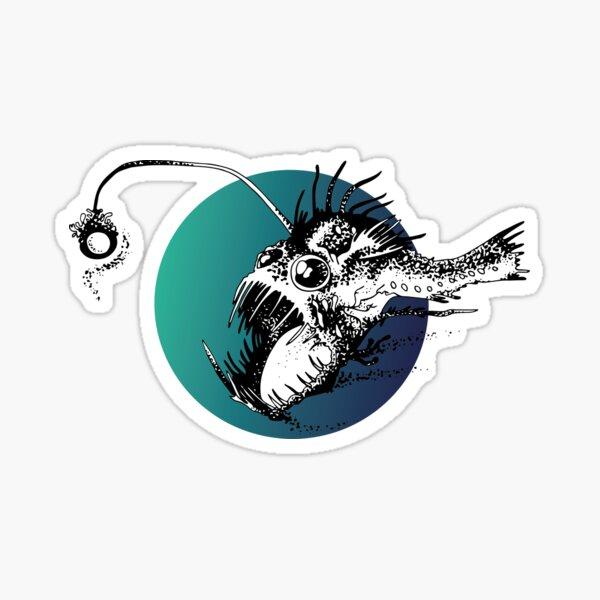 Poisson pêcheur Sticker
