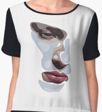 Simplistic face  Women's Chiffon Top