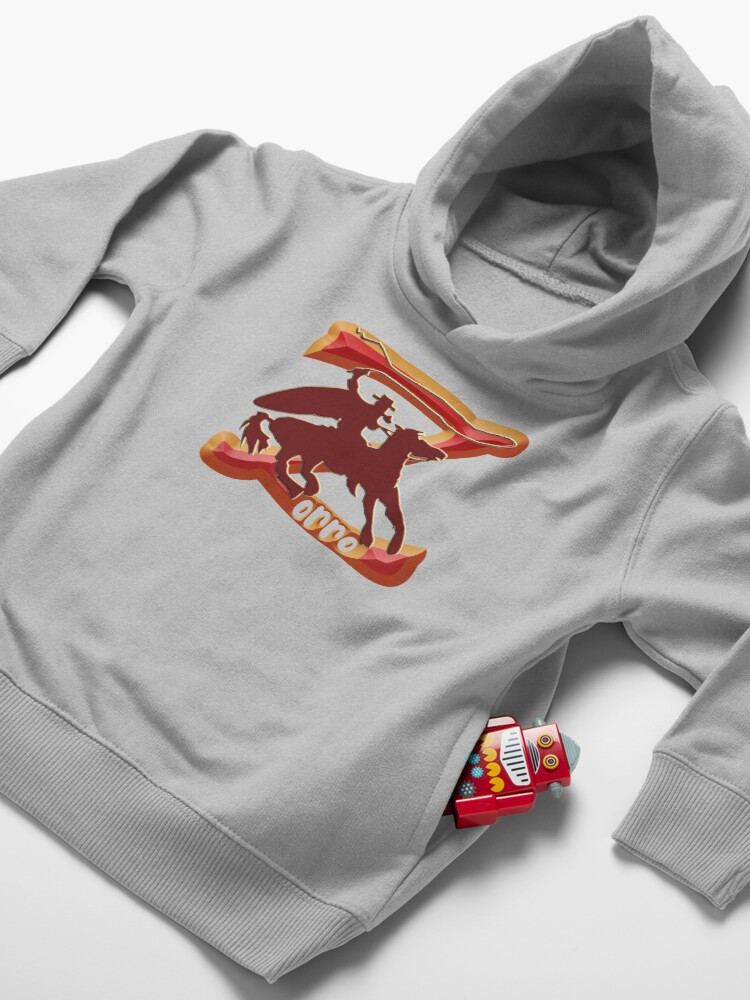 Alternate view of Z AS IN ZORRO - ZORRO ON HORSEBACK - ZORRO THE MYTH - THE WHIP MASTER - THE LEGEND OF AN OUTSTANDING HORSEMAN  Toddler Pullover Hoodie