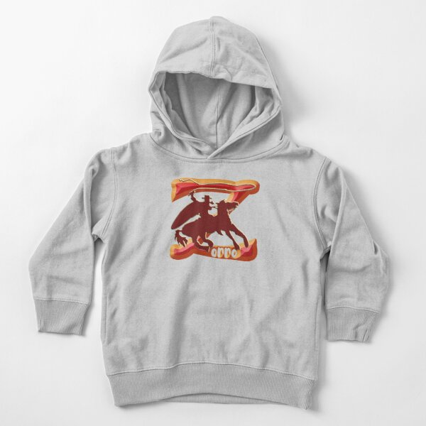 Z AS IN ZORRO - ZORRO ON HORSEBACK - ZORRO THE MYTH - THE WHIP MASTER - THE LEGEND OF AN OUTSTANDING HORSEMAN  Toddler Pullover Hoodie