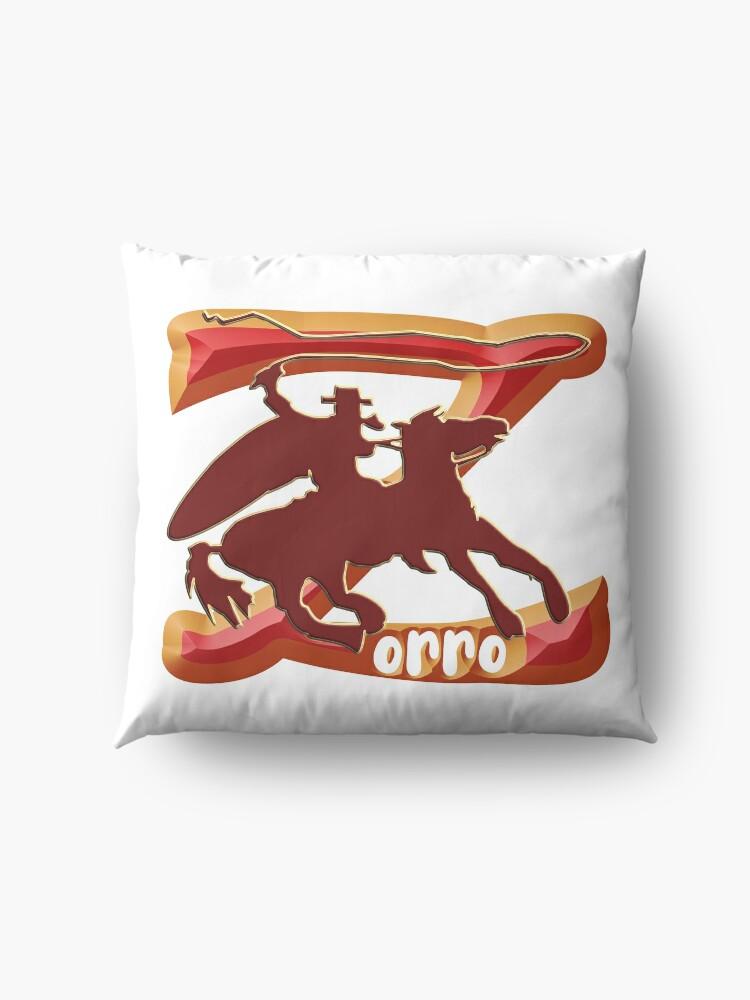 Alternate view of Z AS IN ZORRO - ZORRO ON HORSEBACK - ZORRO THE MYTH - THE WHIP MASTER - THE LEGEND OF AN OUTSTANDING HORSEMAN  Floor Pillow