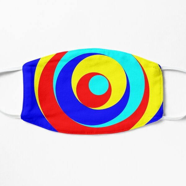 Circles in red / yellow / blue Flat Mask
