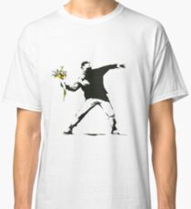 Banksy- Flower Thrower Classic T-Shirt
