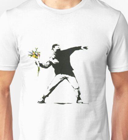 Banksy- Flower Thrower Unisex T-Shirt