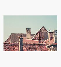 Rooftops at Sunset Photographic Print