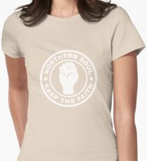 Northern Soul Keep the Faith Womens Fitted T-Shirt