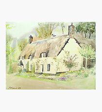Picturesque Dunster Cottage Photographic Print
