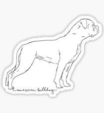 American Bulldog sketch Sticker