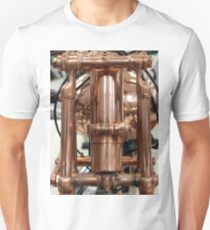 Classic vintage Jap motorcylce photograph close up, showing all the copper detail T-Shirt