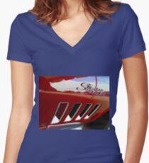 Stingraflection Women's Fitted V-Neck T-Shirt