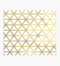 Geometric gilt Photographic Print
