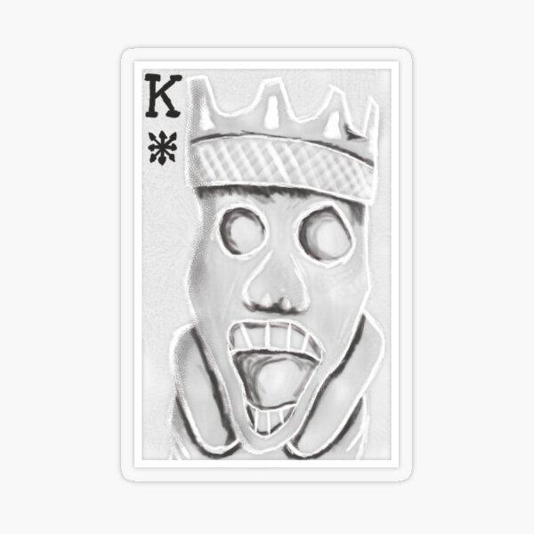 König des Chaos - 100 Tage #12 Transparenter Sticker