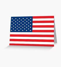 Flag USA Greeting Card