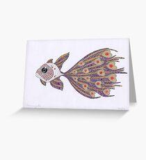 Fish of hearts  (original sold) Greeting Card