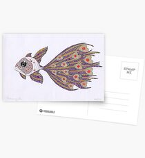 Fish of hearts  (original sold) Postcards