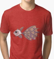 Fish of hearts  (original sold) Tri-blend T-Shirt