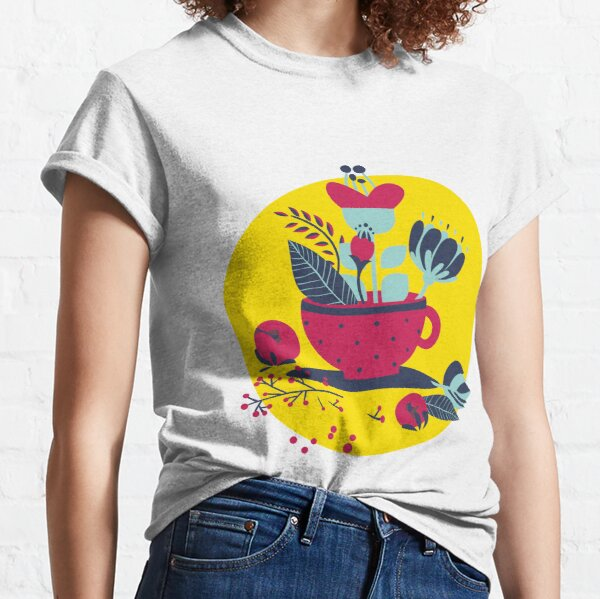 Flower And Cup Classic T-Shirt
