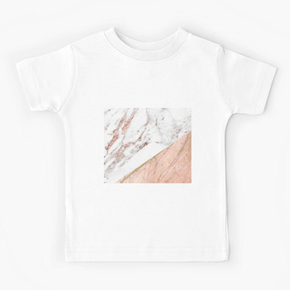 Rose gold marble blended Kids T-Shirt
