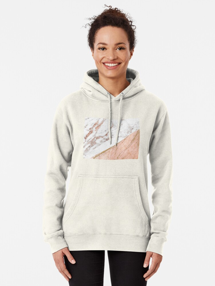 Alternate view of Rose gold marble blended Pullover Hoodie