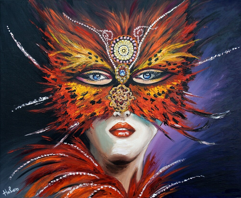 Venetian mask by Helen Bellart