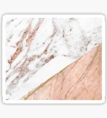 Rose gold marble blended Sticker