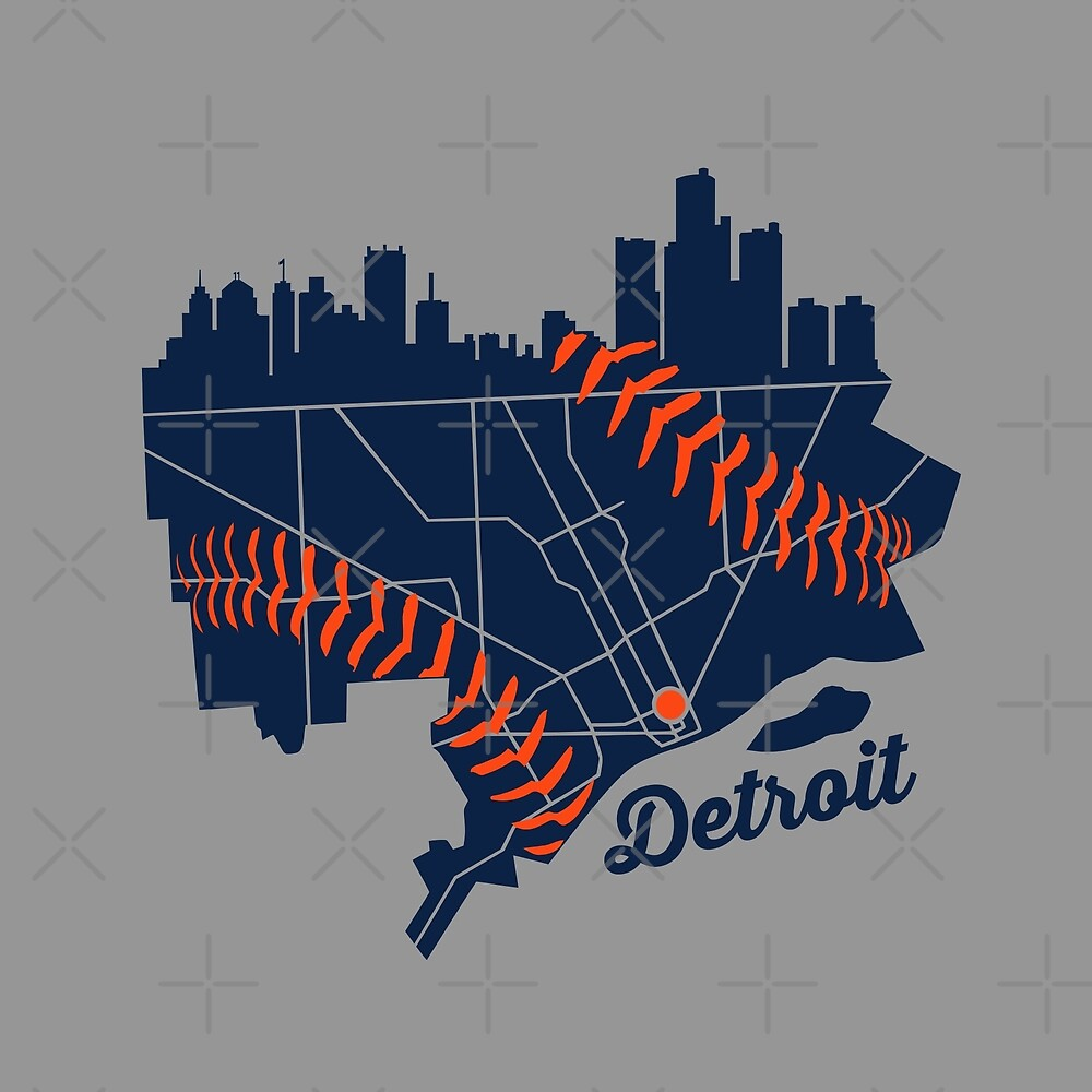 Detroit Baseball Map by thedline