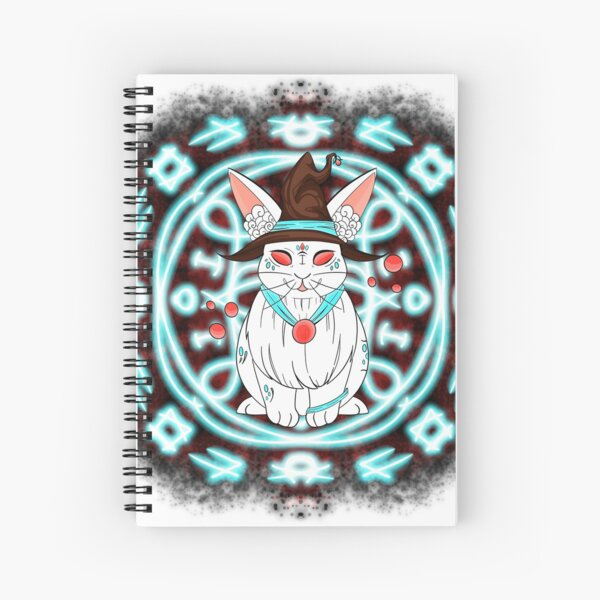 The rabbit witch / illustration magic  Spiral Notebook