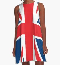 Flag of the Flag of the Great Britain A-Line Dress