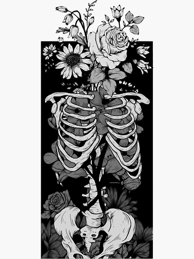 Gothic Flower And Bones 14 by vinhthitam