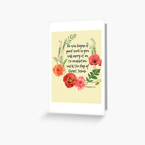 Bible Verse Philippians 1:6 Greeting Card