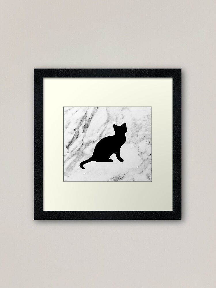 Alternate view of Cat on marble Framed Art Print