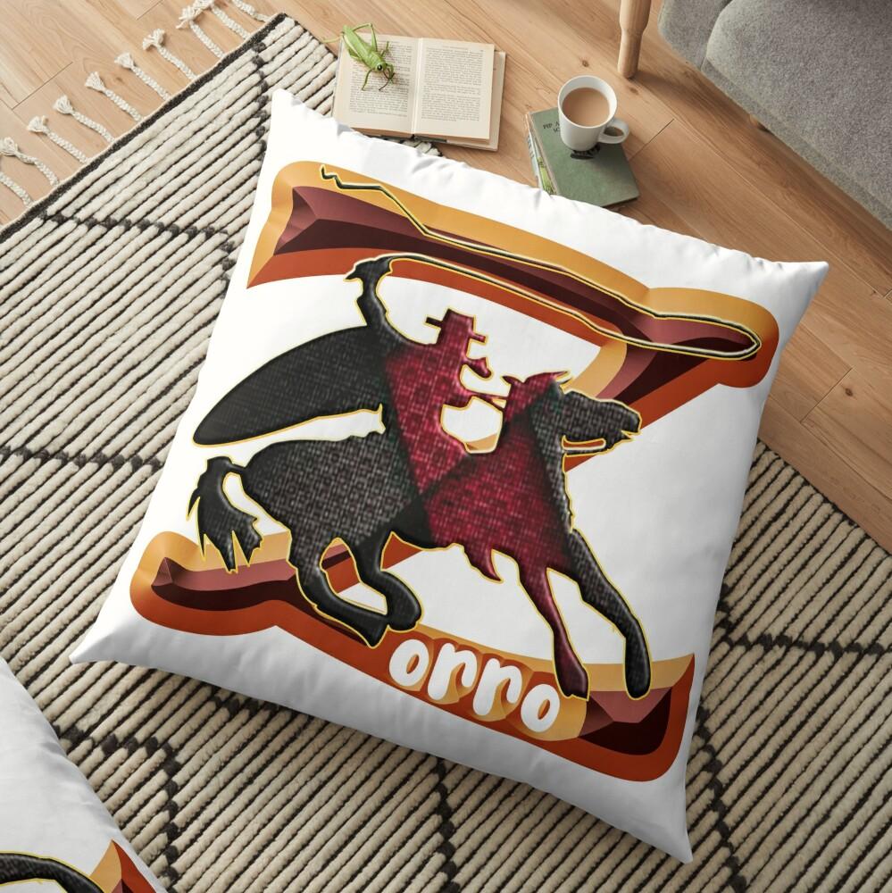 Z AS IN ZORRO - ZORRO ON HORSEBACK - ZORRO THE MYTH - THE WHIP MASTER - THE LEGEND OF AN OUTSTANDING HORSEMAN2 Floor Pillow