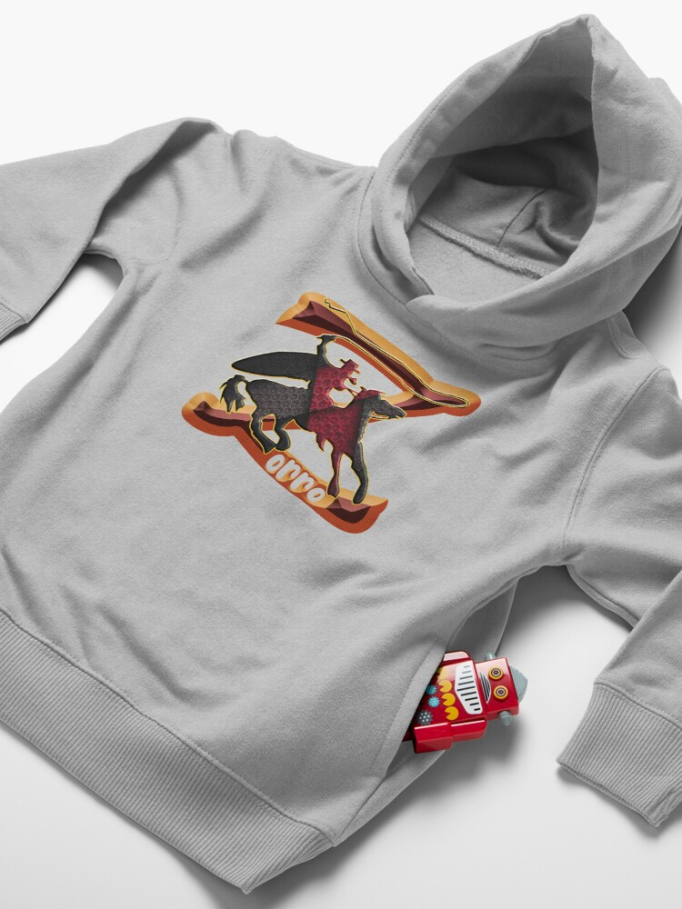 Alternate view of Z AS IN ZORRO - ZORRO ON HORSEBACK - ZORRO THE MYTH - THE WHIP MASTER - THE LEGEND OF AN OUTSTANDING HORSEMAN2 Toddler Pullover Hoodie