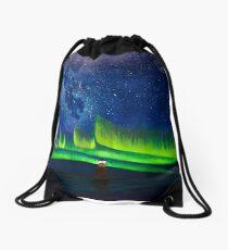 Auroras at Ålesund, Norawy Drawstring Bag