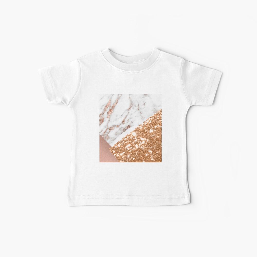 Oro rosa en capas Camiseta para bebés