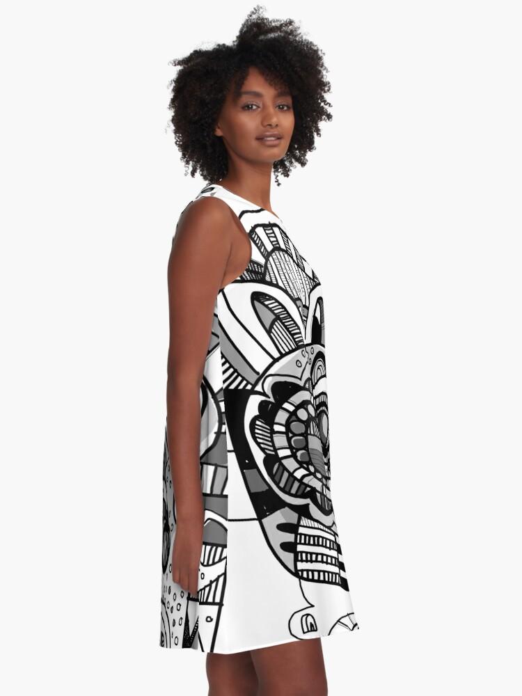 Alternate view of Bone Pharaoh  A-Line Dress