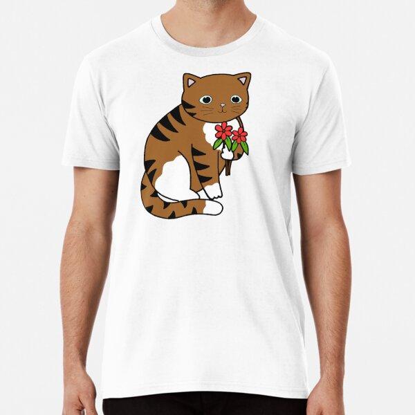Pebbles with flowers Premium T-Shirt