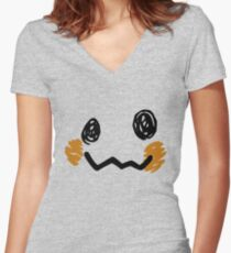 Mimikyu Face - Pokemon Women's Fitted V-Neck T-Shirt