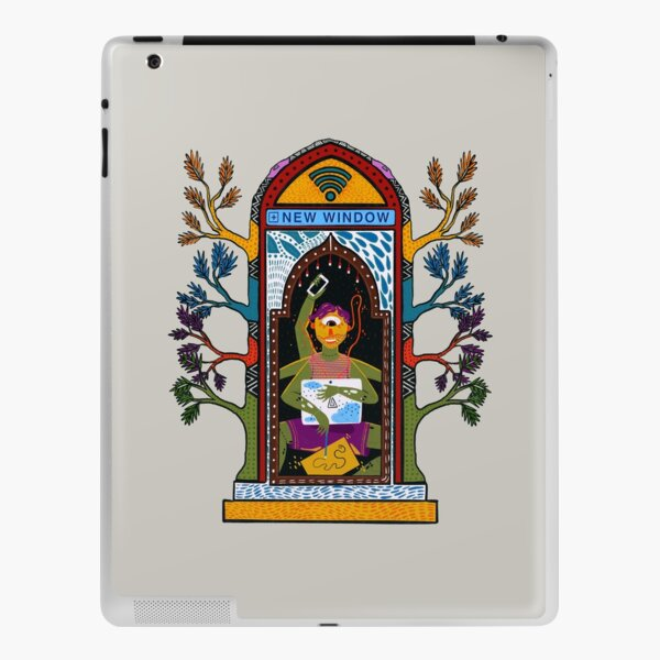 New Window Digital Nomad Work from Home Travel India iPad Skin