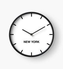 Reloj Reloj de pared New York Time Zone Newsroom