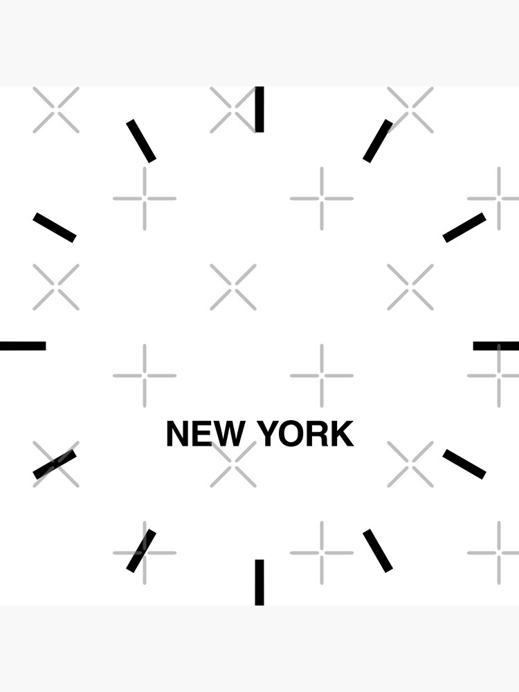 New York Time Zone Newsroom Wall Clock by bluehugo