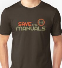 Save The Manuals (4) Slim Fit T-Shirt