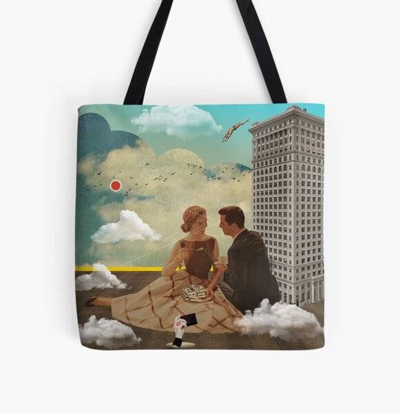 Vintage Modern Collection -- All Eyes On Me All Over Print Tote Bag