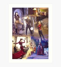Once Upon A Time - main cast Art Print