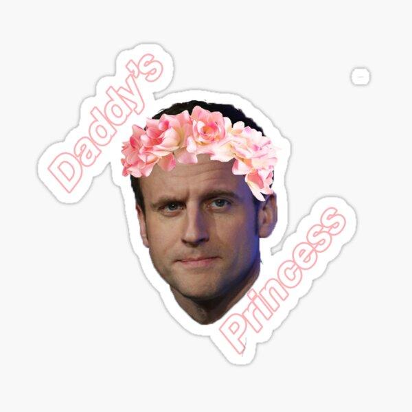 Emmanuel Macron La Princesse du Papa Sticker