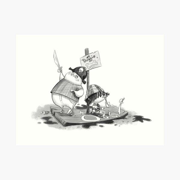 Pirate kids Art Print