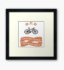 OCD - Obsessive cycling disorder Framed Print