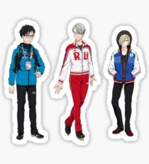 Yuri on Ice!! - Yuri Katsuki, Victor Nikiforov, Yuri Plisetsky Sticker